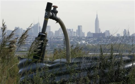 Image: Methane gas collection pipe