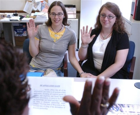 Images: Jen and Rose Wehrli-Mead, domestic partner applicants in Wisconsin
