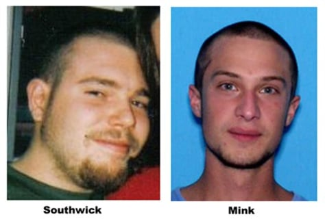 Image: An undated photo shows 22-year-old Ashton Mink, right, and 26-year-old Joshua Southwick.