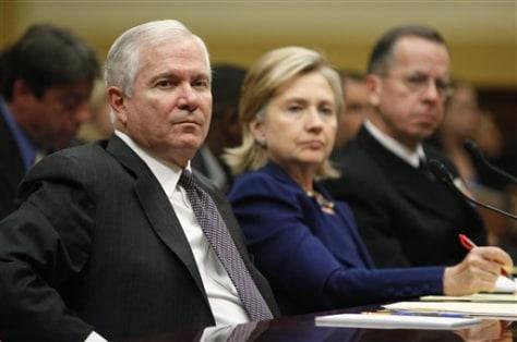 Image: Gates, Clinton, Mullen