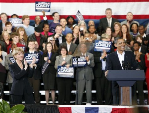 Image: Obama and Coakley