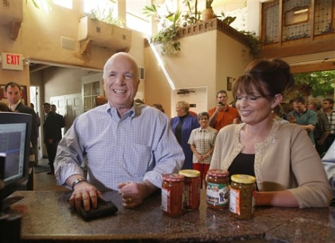 Image: Sen. John McCain and Gov. Sarah Palin