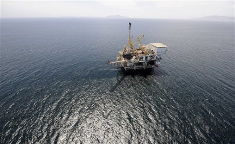Image: California offshore well