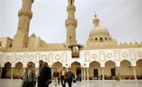 Image: Al-Azhar mosque in Egypt