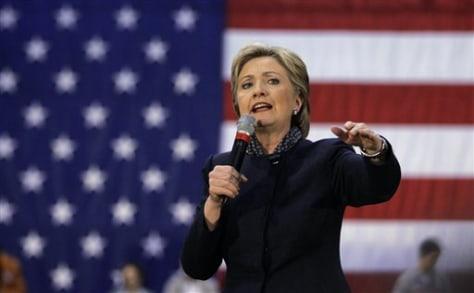IMAGE: Sen. Hillary Rodham Clinton, D-N.Y