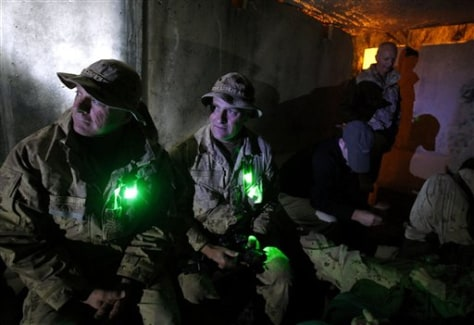 Image: Soldiers in an Afghan bunker