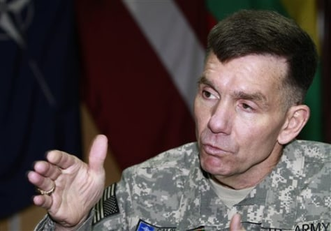Image: U.S. Lt. Gen. William Caldwell, the commander of NATO's mission to train Afghan policemen and soldiers