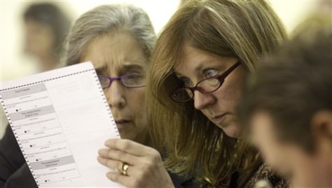 Image: Checking write-in ballots in Alaska
