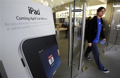 Image: iPad ad in Apple Store