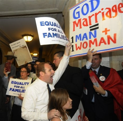 Image: Gay marriage protesters