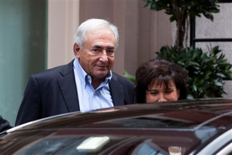 Image: Dominique Strauss-Kahn and his wife