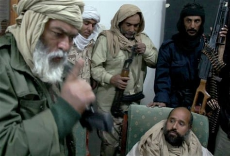 Image: Seif al-Islam Gadhafi in captivity