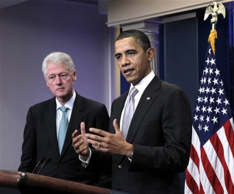 Image: Barack Obama, Bill Clinton
