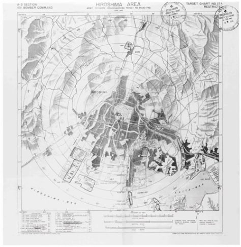 Image: Hiroshima bombing map