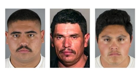 Image: From left, Isai Aguilar Morales, Crisantos Moroyoqui and Jose David Castro Reyes