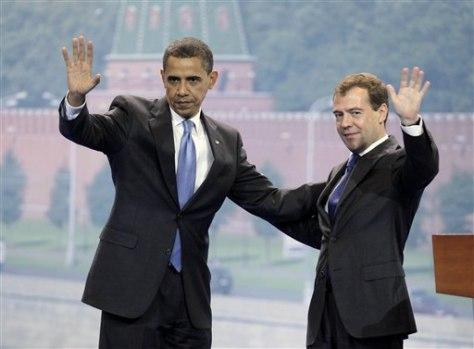 APTOPIX Russia Obama