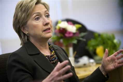 IMAGE: Sen. Hillary Rodham Clinton, D-N.Y.,