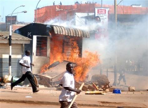 Image: Riots in Uganda