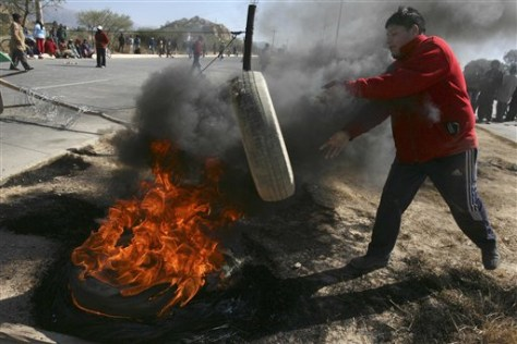 Image: Bolivian protester