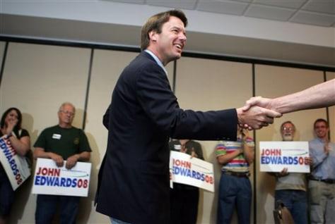 Former Sen. John Edwards, D-N.C.