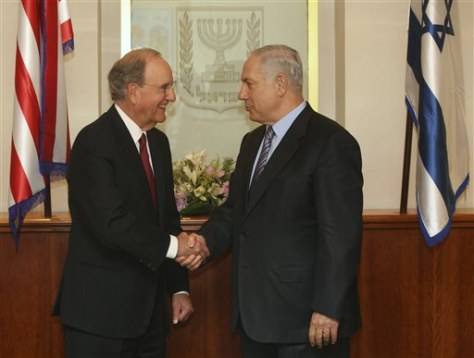 Image: George Mitchell and Benjamin Netanyahu