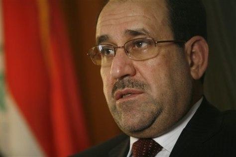 Image: Iraq Al-Maliki interview