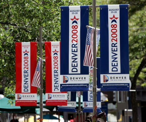 Image: Denver Democratic banners