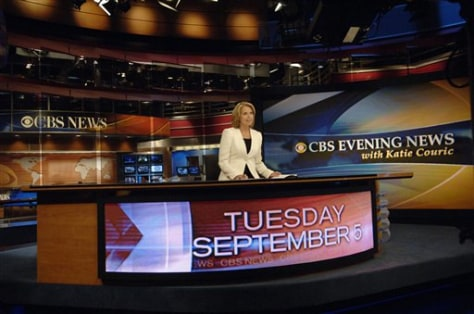 KATIE COURIC AT CBS NEWS DESK