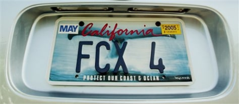 IMAGE: Whale tail on license plate