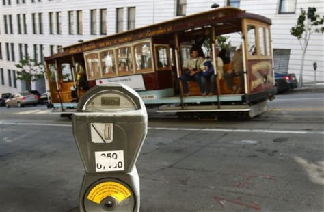 Image: A parking meter near the financial district