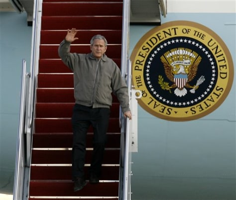 IMAGE: Bush returns