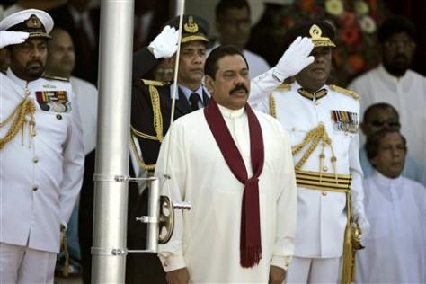 Image: Sri Lankan President Mahinda Rajapaksa