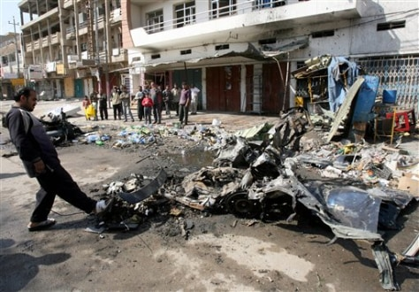 Image: Aftermath of blast in Baghdad