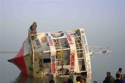 Image: Capsized ferry