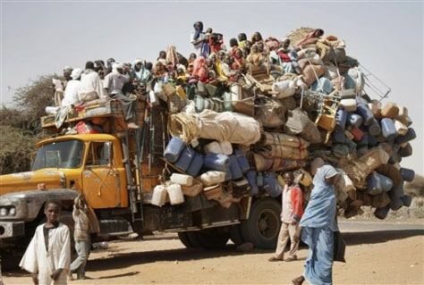 Image: Displaced Sudanese from Darfur
