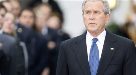 IMAGE: President Bush at 9/11 ceremony
