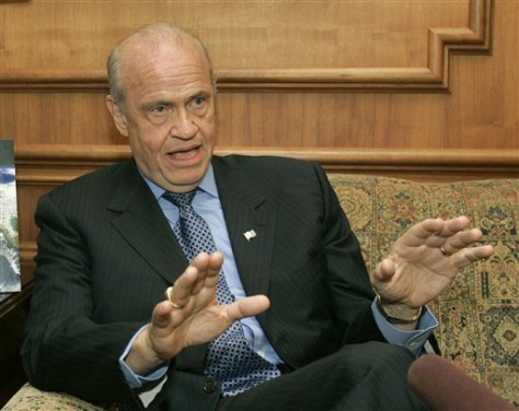 IMAGE: GOP presidential hopeful Fred Thompson