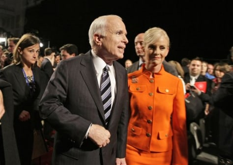 Image: Sen. John McCain with his wife Cindy