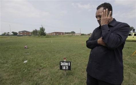 Image: Cemetery desecration