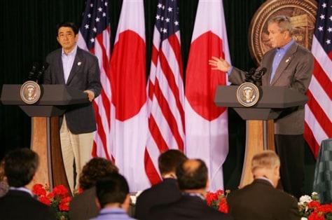 President Bush, Japanese Prime Minister Abe
