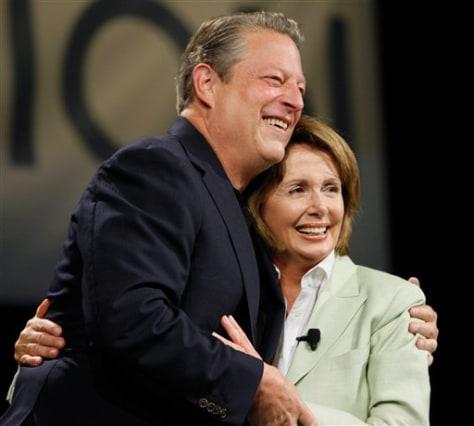 Image: Al Gore, Nancy Pelosi