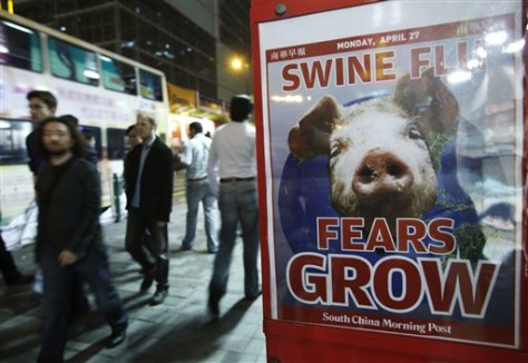 Image: Hong Kong swine flu