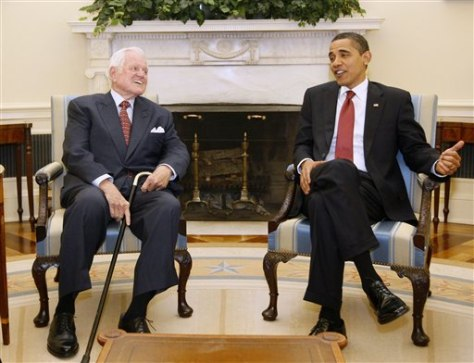 Image: Sen. Kennedy, President Obama