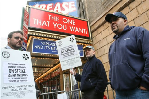 Image: Broadway strike