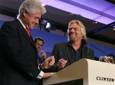 IMAGE: BRANSON AND CLINTON