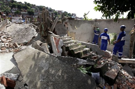 Image: Slum home demolished