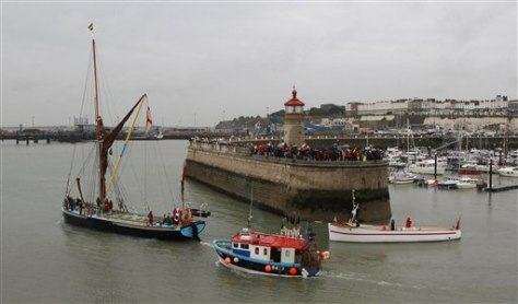 Image: Small boats set sail for Dunkirk