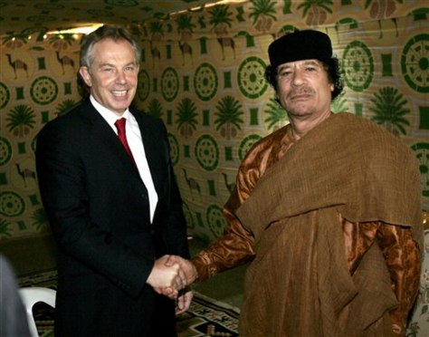 Image: Tony Blair meets Moammar Gadhafi in 2007