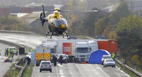 Image: M5 motorway crash
