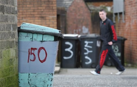 Image: Trash cans in Belfast